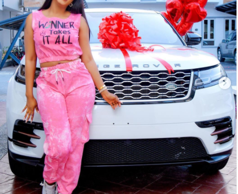 Mercy Eke buys herself a Range Rover Velar as birthday gift as she turns 27 (photos)
