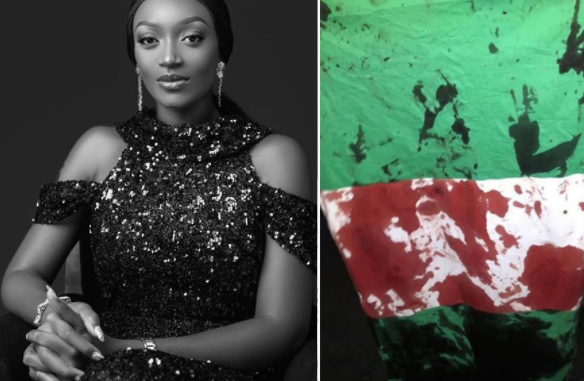 You are also a bad leader like the government - Actress, Adaeze Eluke accuses her fellow celebrities of abandoning other protesters before the Lekki gun attack