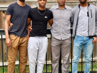 Nollywood actress, Omoni Oboli celebrates her husband and their three sons on International Men's Day (photo)