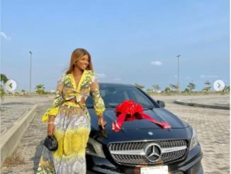 Actress Iyabo Ojo's daughter, Priscilla, 20, buys herself a Mercedes Benz (Photos)