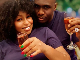 Rita Dominic shows off her man, Daily Times Publisher Fidelis Anosike (photos)
