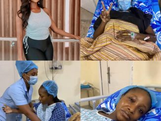 Actress Ini Dima-Okojie undergoes Fibroid surgery, shares her struggle with the ailment (video)