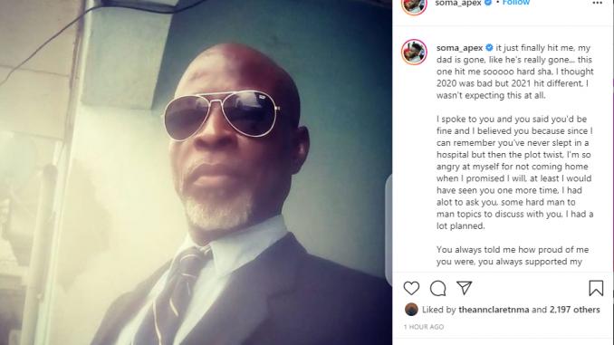 BBNaija's Soma loses his father