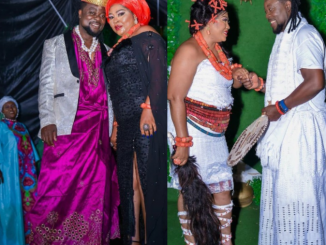 Rita Daniels' wedding to a younger man is from a movie scene, son says as Nigerians accuse the mum of giving her daughter to older man and marrying younger one