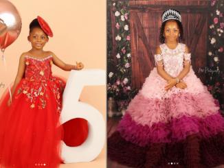 Nollywood Actress Osas Ighodaro and Gbenro Ajibade celebrate their daughter Azariah at 5 (photos)