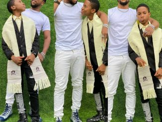 Actor, Charles Okocha's son graduates from primary school (photos)