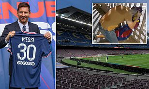 Barcelona fans turn down tickets for their first game back in front of a crowd in 17 months, after Lionel Messi's move to PSG