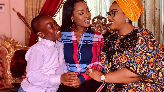 #BBNaija: Jackie B breaks down in tears after being surprised by her mother and son following her eviction from the Big Brother house (video)