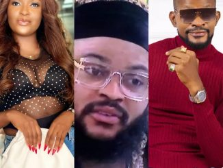 Whitemoney nor be OnyeEze mansion. Nor pose with am - Actor Uche Maduagwu comes for relationship expert Blessing CEO for making 'snide remark' about BBNaija minutes after Whitemoney's victory