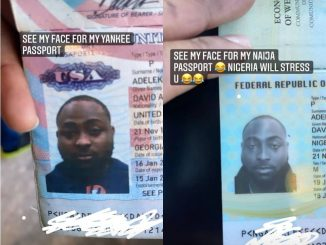 """""""Nigeria will stress you""""- Davido says as he shares the different 'faces' he wore on his American and Nigerian passport"""
